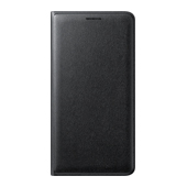 Galaxy J3 Wallet Flip Cover - Black