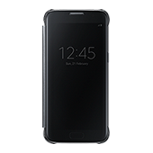 Galaxy S7 S-View Flip Cover, Clear Black