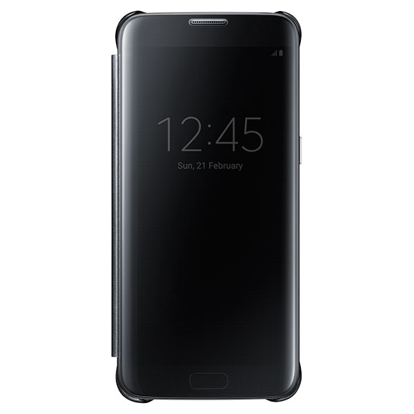 Galaxy S7 edge S-View Flip Cover, Clear Black