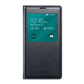 Galaxy S 5 Wireless Charging S-View Flip Cover, Black