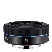 16mm F2.4 Ultra wide pancake lens - Black