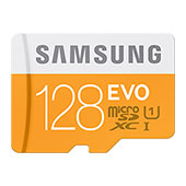 MicroSDXC 128GB EVO Memory Card with Adapter