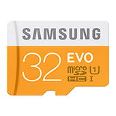 MicroSDHC 32GB  EVO Memory Card with Adapter
