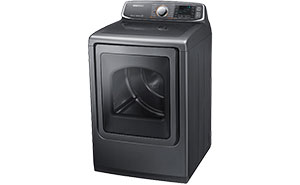 Samsung dryer - viewed from the side, door closed