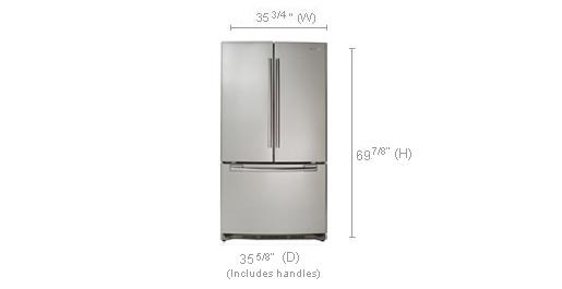 specs french door rf266aepn samsung refrigerators