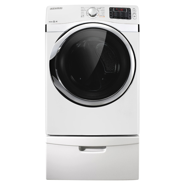 7.5 cu. ft. Capacity Electric Steam Dryer (White)