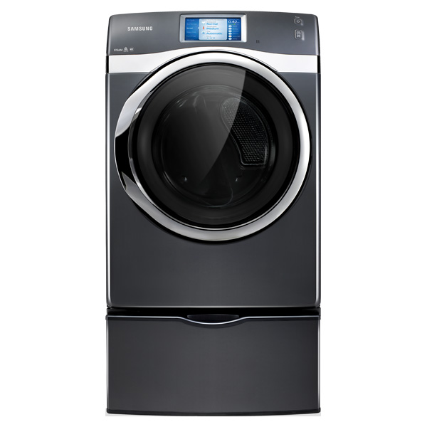 7.5 cu. ft. King-Size Capacity, Gas Touch Screen LCD Dryer (Onyx)