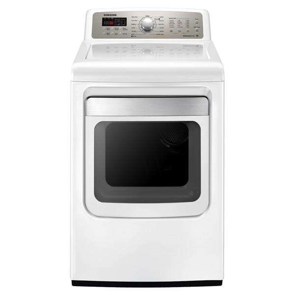 7.4 cu. ft. King-size Capacity Electric Front Load Dryer (White)