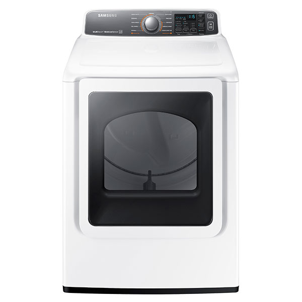 DV7700 7.4 cu. ft. Large Capacity (Electric) Front Load Dryer (White)