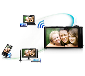 Share images and videos instantly with Wi-Fi