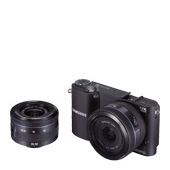 NX1000 20.3MP  SMART Camera with 20-50mm Lens and 16mm Lens (Black)