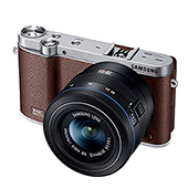 NX3000 Interchangeable Lens Camera + 20-50mm Power Zoom Lens and Flash (Brown)