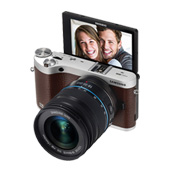 NX300M 20.3MP SMART Camera w/ 18-55mm Lens (Brown)