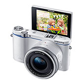 NX3300 Interchangeable Lens Camera with 20-50mm Power Zoom Lens and Flash (White)