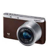 NX Mini Smart Camera with 9-27mm Lens & Flash (Dark Brown)
