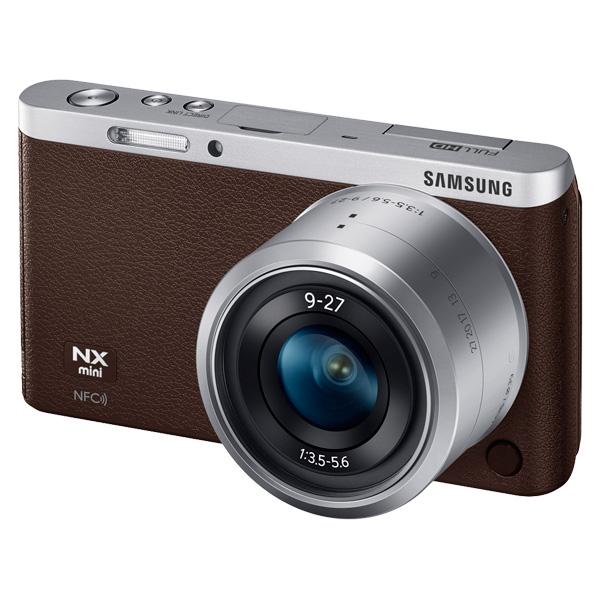 NX Mini Smart Camera with 9-27mm Lens & Flash (Dark Brown)