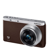NX Mini Smart Camera with 9 and 9-27mm Lens and Lens Case (Dark Brown)