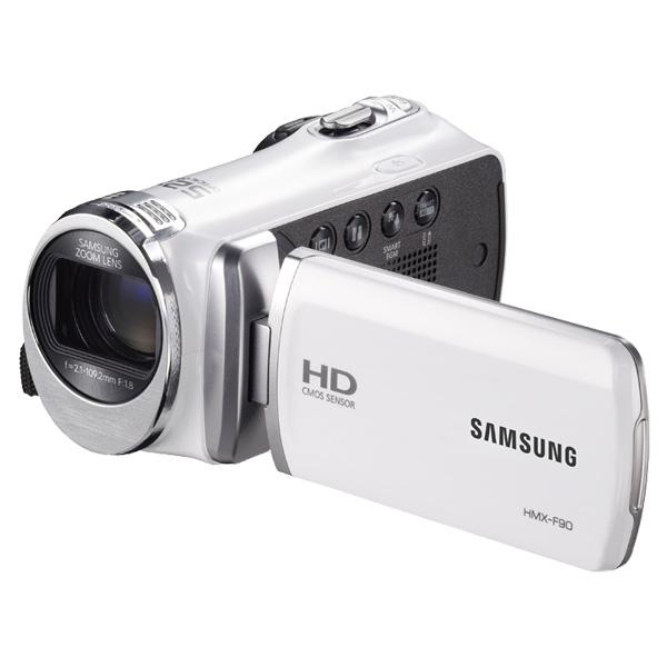 Samsung New F90WN 52X Optimal Zoom HD Camcorder (White)