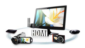 Watch Full 1080p HD Video with HDMI