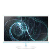 "Samsung Simple LED 23.6"" Monitor with White w/ Blue ToC Finish"