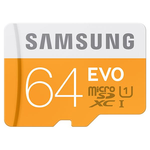 MicroSDXC 64GB EVO Memory Card with Adapter