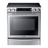 NE58F9710WS Slide-In Electric Range with Flex Duo Oven