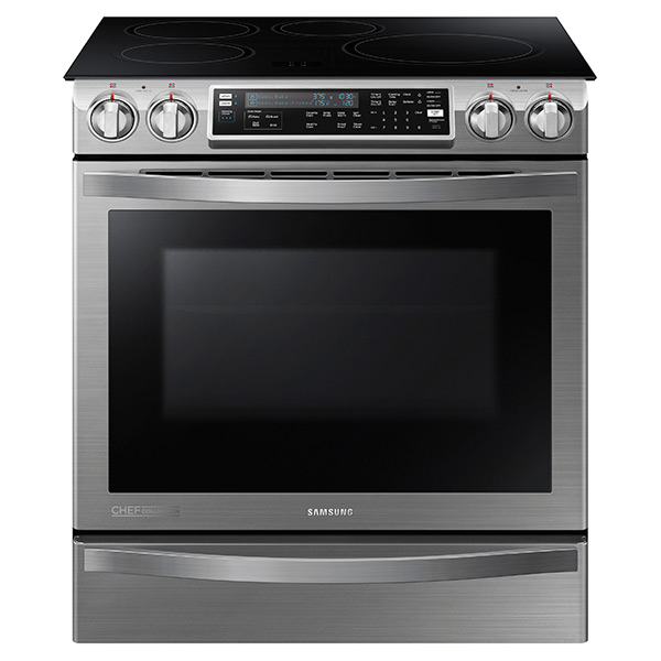 NE58H9970WS Slide-In Induction Chef Collection Range with Flex Duo™ Oven