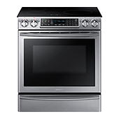 NE58K9560WS 5.8 cu. ft. Slide-In Induction Range with Virtual Flame™
