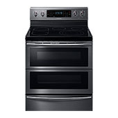 NE59J7850WG Electric Flex Duo<sup>®</sup> Range with Soft Close and Dual Door™ (Black Stainless Steel)