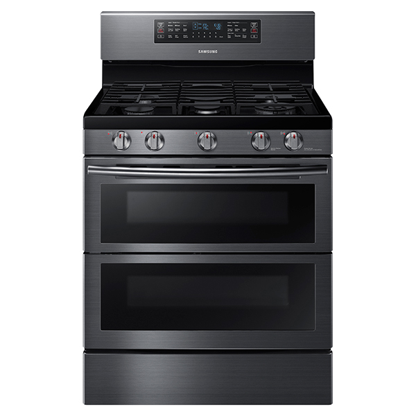 NX58K7850SG 5.8 cu. ft. Flex Duo™ with Dual Door Freestanding Gas Range (Black Stainless Steel)