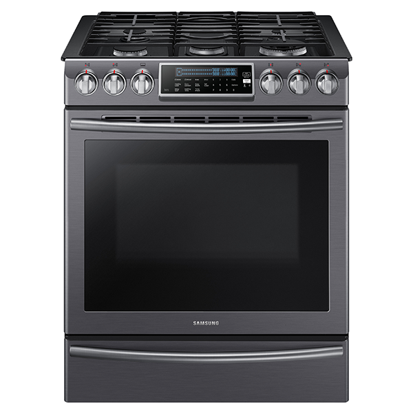 NX58K9500WG Slide-In Gas Range with True Convection