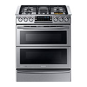 NY58J9850WS Slide-in Dual Fuel Range with Flex Duo™ and Dual Door