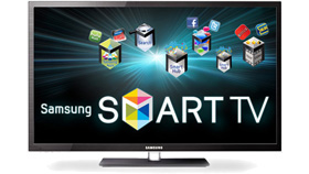 Smart TV with Web-Connected Samsung Apps