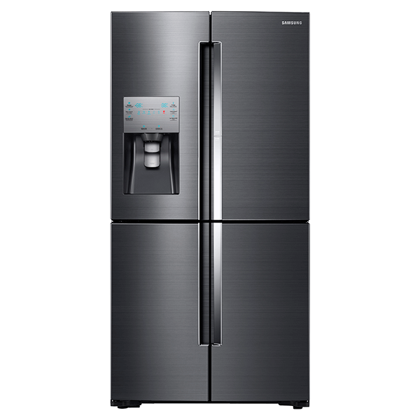 "36"" Wide X 72"" High, 22 cu. ft. Capacity Counter Depth 4-Door Flex™ Food Showcase Refrigerator with FlexZone™ ( Black Stainless Steel)"