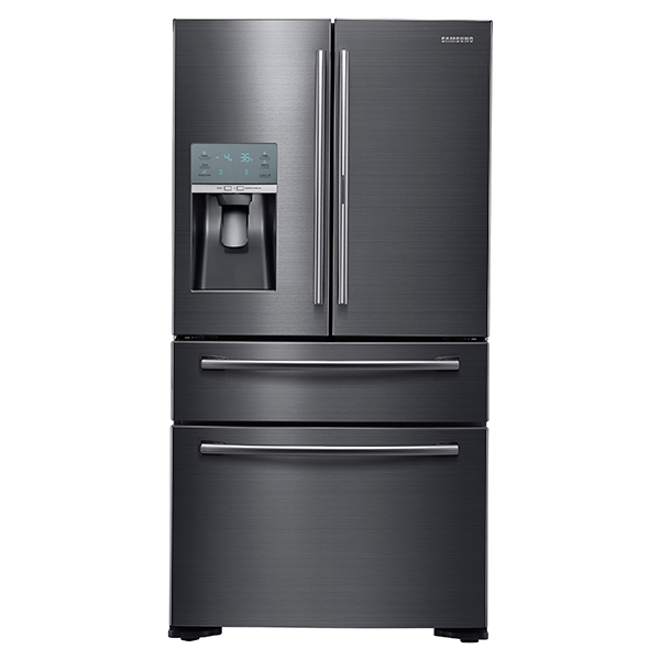 "36"" Wide X 70"" High, 22 cu. ft. Capacity Counter Depth 4-Door French Door Food Showcase Refrigerator (Black Stainless Steel)"