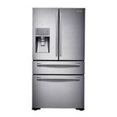 "36"" Wide, 23 cu. ft. Counter-Depth French Door Refrigerator with Sparkling Water Dispenser (Stainless Steel)"