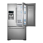 "36""-Wide, 23 cu. ft. Capacity Counter Depth 3-Door Food ShowCase Refrigerator (Stainless Steel)"