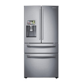 "36"" Wide, 28 cu. ft. 4-Door Refrigerator with 8"" Wi-Fi Enabled LCD  and Counter-Height FlexZone™ Drawer"