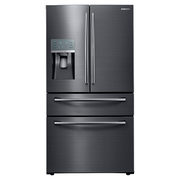 28 cu. ft. Capacity 4-Door French Door Food Showcase Refrigerator (Black Stainless Steel)