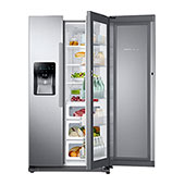 "36""-Wide, 24.7 cu. ft. Capacity Side-by-Side Food ShowCase Refrigerator with Metal Cooling (Stainless Steel)"