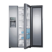 "36"" Wide, 29 cu. ft. Capacity Side-by-Side Food ShowCase Refrigerator with Metal Cooling (Stainless Steel)"