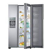 30 cu. ft. Capacity Side-by-Side Food ShowCase Refrigerator with Dual Tower LED Lighting (Stainless Steel)