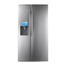 "30 cu. ft. Side by Side Refrigerator and 8"" LCD Digital Display with Apps"