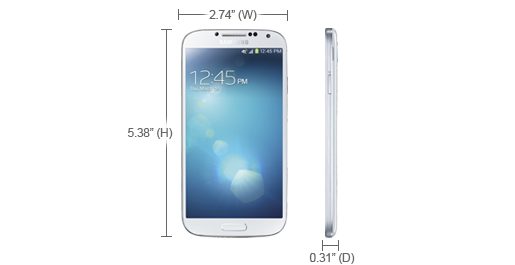 Specs - Verizon Wireless Cell Phones SCH-I545 | Samsung Cell Phones