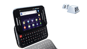 "3.5"" HVGA TFT Display & QWERTY Keyboard for Quick and Easy Input"