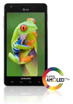 "Large 4.5"" SUPER AMOLED™ Plus Touch Screen Technology"