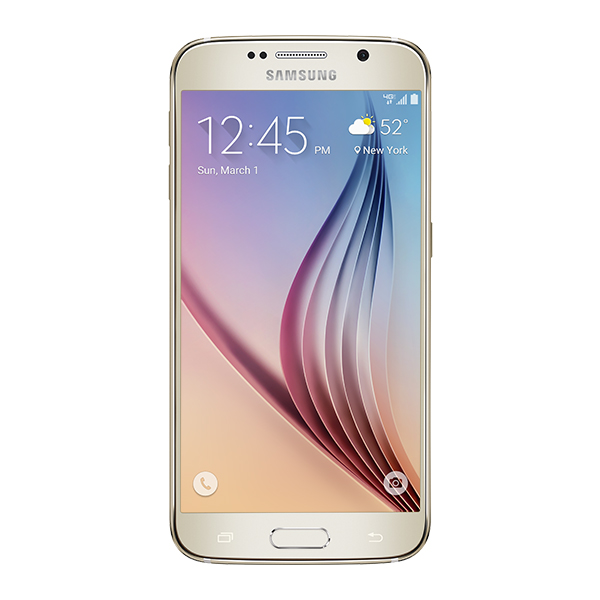 Samsung Galaxy S6, 128GB<sup>†</sup>, (Verizon), Gold Platinum