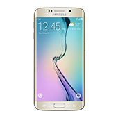 Samsung Galaxy S6 edge, 32GB<sup>†</sup>, (AT&T), Gold Platinum