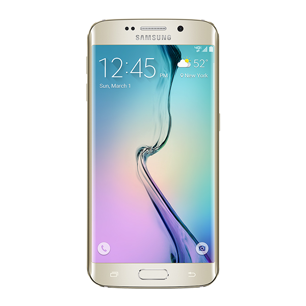 Samsung Galaxy S6 edge, 128GB<sup>†</sup>, (Verizon), Gold Platinum