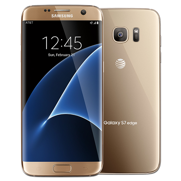 Samsung Galaxy S7 edge, 32GB, (AT&T), Gold Platinum